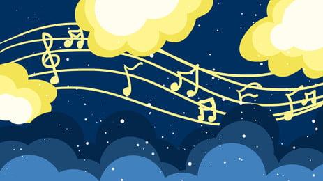 संगीत नोट्स बनावट बनावट आंकड़ा, संगीत, नोट, नीले पृष्ठभूमि छवि