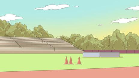 स्टेडियम पृष्ठभूमि बैनर सजावट, स्टेडियम, इनडोर, फुटबॉल पृष्ठभूमि छवि