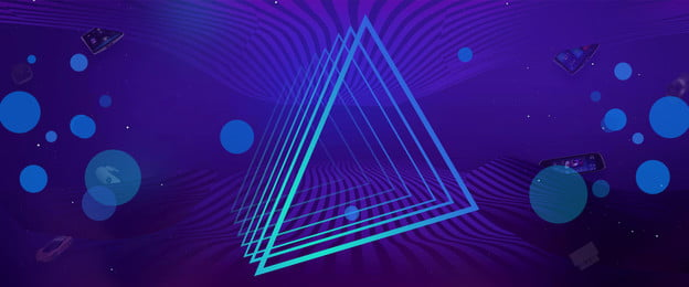 science and technology banner decorative geometric gradient background, Technological, Science, Technology Background image