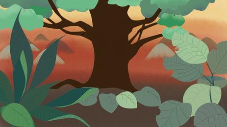 森林園林背景 森林 園林 小路背景圖庫