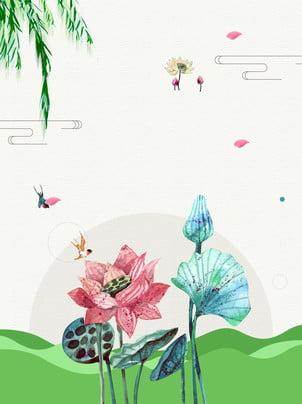 Lotus Flor Planta A Primavera Background Decoração Floral Cor Imagem Do Plano De Fundo