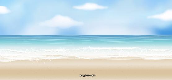 海灘 沙子 海洋 海 背景, 海岸, 水, 熱帶的 背景圖片