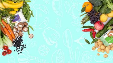 fruits et légumes, Légumes, Fruits, Bannière De Fond De La Bannière Image d'arrière-plan