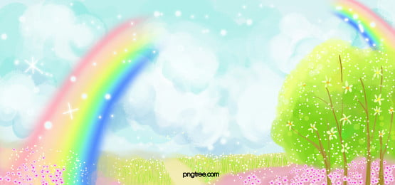 beautiful rainbow background, Banner, Interface, Creative Background image