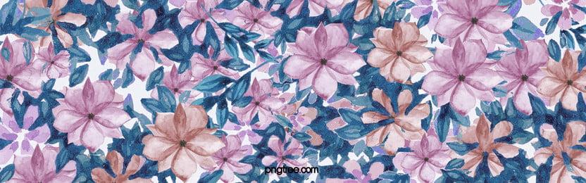 फूल पृष्ठभूमि, बैंगनी, पानी के रंग का, फूल पृष्ठभूमि छवि