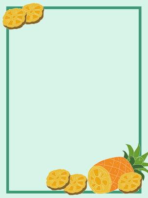 夏季清凉鳳梨海報背景 , 鳳梨, 夏季, 清凉 背景圖片