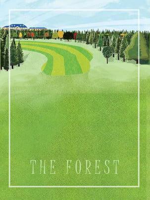forest castle decorative background , Forest, Cabin, Beam Background image