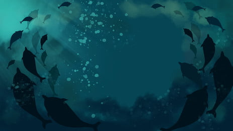 Background Blue Deep Sea Fish, Blue, Deep, Sea, Background image