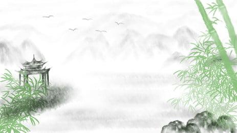 綠色竹子背景, 綠色, 竹子, 竹葉 背景圖片