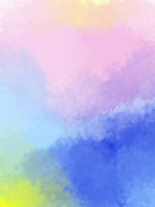 màu nước cảm nhận nền , Màu Xanh., Màu Tím., Đổ Dốc Màu Ảnh nền