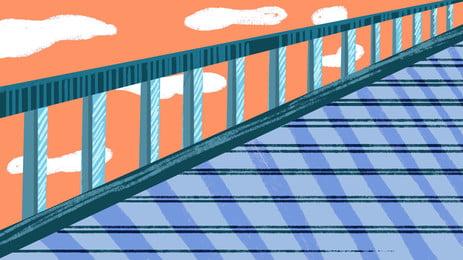 西蒂 cây cầu  thành phố  tòa nhà nền, Hiện đại., Trên Bầu Trời., Giao Thông Vận Tải Ảnh nền