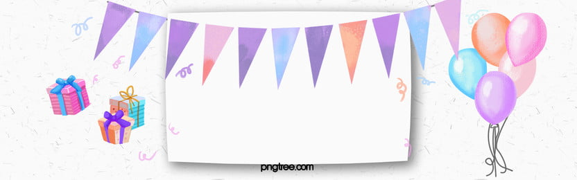 watercolor balloon banner celebration background, Birthday, Balloon, Flags Background image