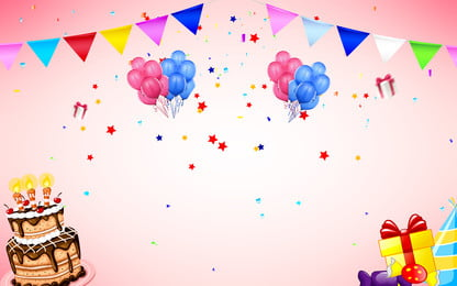 happy birthday balloons banner background, Colorful, Balloons, Birthday Background image