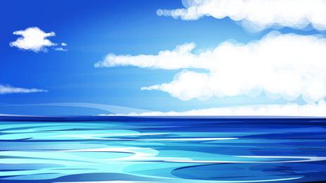ozean strand meer sand hintergrund Wasser Wasser Sky Hintergrundbild