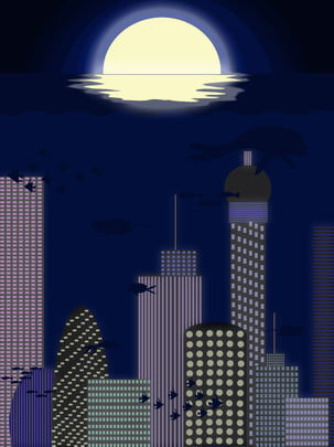 khu thương mại  西蒂 thành phố cách điệu skyline  alabama nền , Đêm, Thành Phố., Tòa Nhà. Ảnh nền
