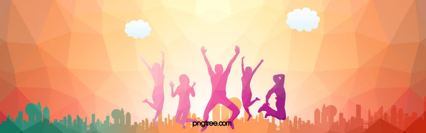 Dancing Youth City Silhouette background, Crowd, Carnival, Enthusiasm Background image