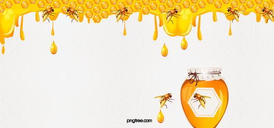 màu vàng  霍尼  quot;tổ ong quot;  ong nền, Mật Ong., Thức ăn., Hoạt Hình. Ảnh nền