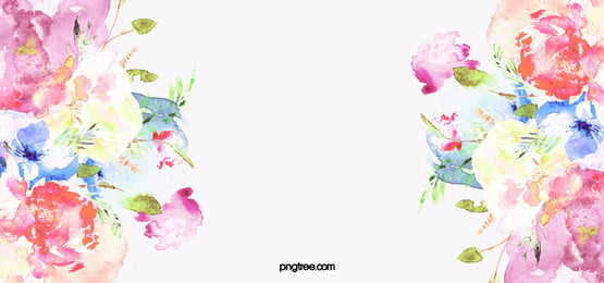hand painted watercolor flowers background, Watercolor, Flowers, Beautiful Background image