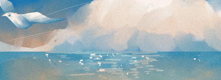 水 海 海洋 雲 背景, 反射, 液體, 漣漪 背景圖片