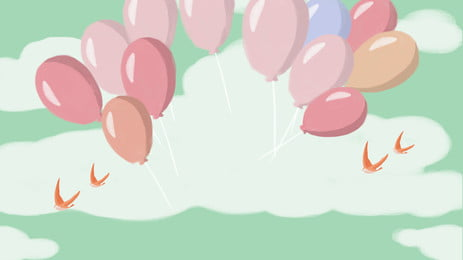 Colorful Birthday Balloon Balloons, Party, Decoration, Fun, Background image