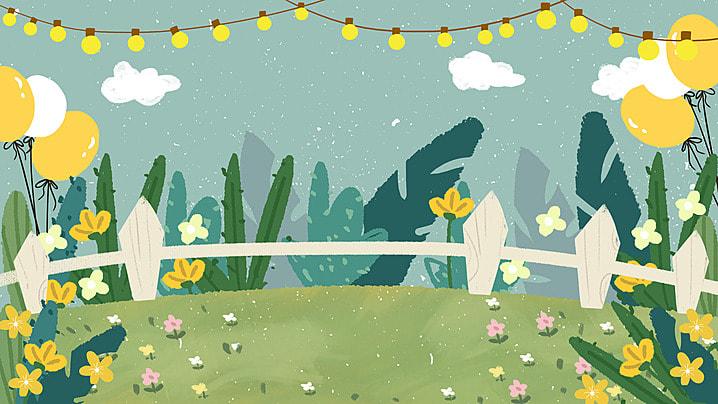漫画の花園の籬の背景, 漫画, 花園, 垣 背景画像