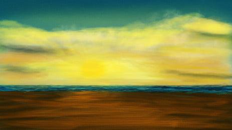 mimpi banner indah gunung matahari terbenam, Indah, Mimpi, Gunung imej latar belakang