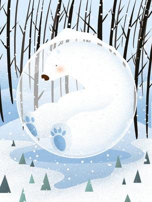白色雪樹 , 白色雪樹, 冬天風景, 雪地 背景圖片