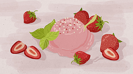 Hd Picture Delicious Strawberry Cake, Strawberry, Cake, Photograph, Background image