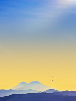 paisagem sky gama montanha background , Paisagem, Pôr - Do - Sol, Sol Imagem de fundo
