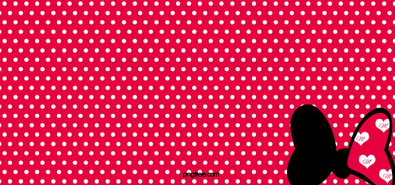 Red Polka Dot Disney Minnie Bow Background, Red, Polka, Dot, Background image