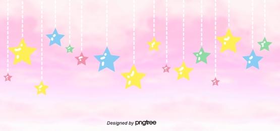 Pink Stars Background, Pink, Little, Stars, Background image