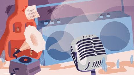 mikrofon latar belakang, Mikrofon, Retro, Logam imej latar belakang