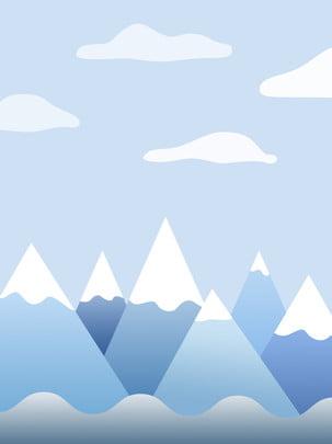 氷河背景 , 氷河, 靑い, 氷塊 背景画像