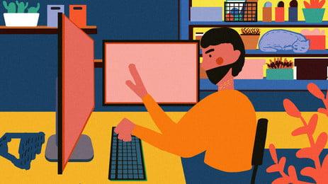 仕事中の会社員局部, 仕事, 会社, 従業員 背景画像