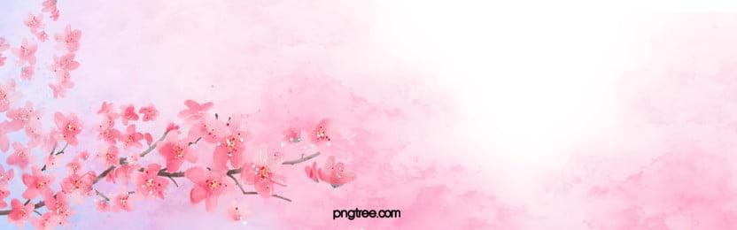 चेरी खिलना पृष्ठभूमि चित्रण, Sakura, गुलाबी, रोमांटिक पृष्ठभूमि छवि