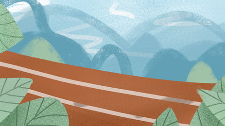 自動車道路の自動車の背景, 道路, 大気, 自然 背景画像