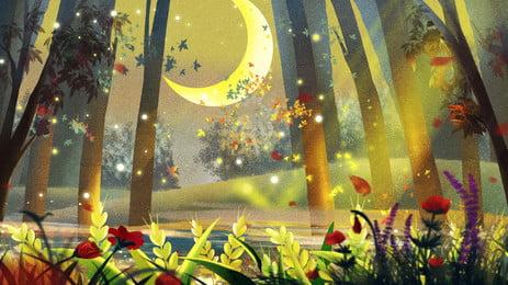 fantasy forest h5 background, Romantico, Hermosa, Sueño Imagen de fondo