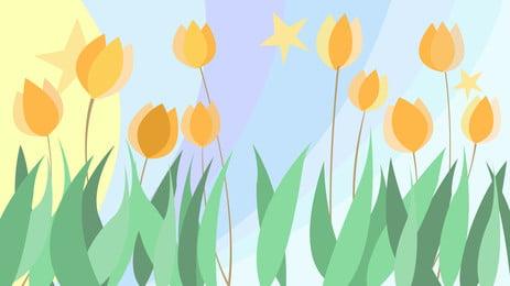 fantasi bintang bunga latar belakang, Mimpi, Starlight, Bunga-bunga imej latar belakang