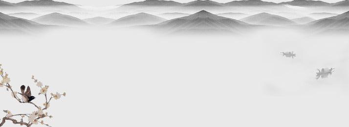 灰色の水墨の背景 , 灰色, 簡約, 水墨画 背景画像