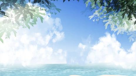 bản đồ bầu trời biển cảnh, Trên Bầu Trời., 山川, Đại Dương. Ảnh nền