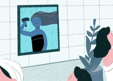 रचनात्मक बाल पृष्ठभूमि, रचनात्मक, बाल, महिला पृष्ठभूमि छवि