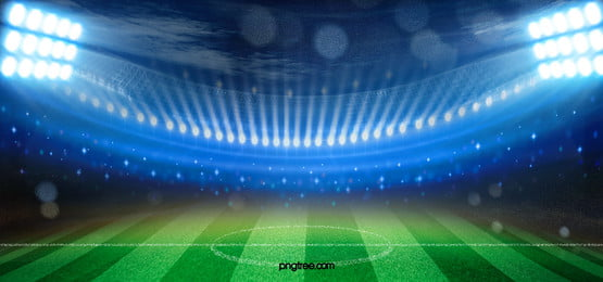 Soccer Football On Green Field With Blue Sky Background: Soccer Field Background Photos, Soccer Field Background