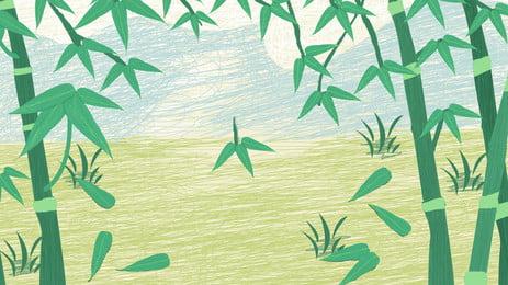 बांस हरे रंग धुंधला, बांस, ग्रीन, धुंधला पृष्ठभूमि छवि