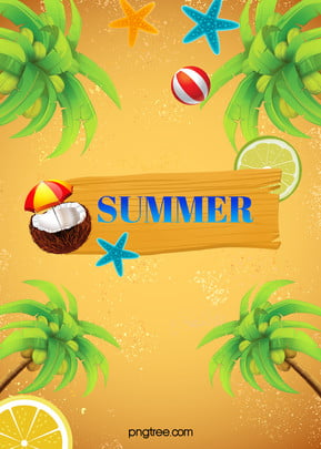 Summer Beach Poster, Great, Summer, Sandy, Background image