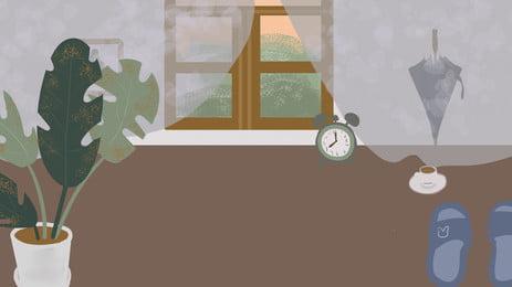 白色の目覚まし時計, 白色, 目覚まし時計 背景画像