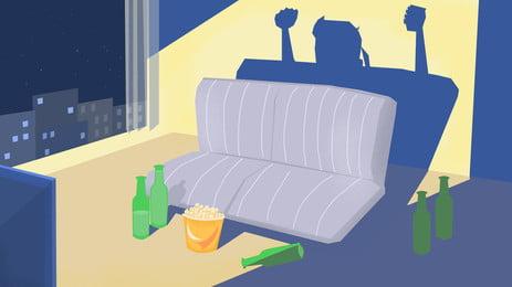レストランと椅子との配置と空白の額縁, レストラン, 機, ブランク額縁 背景画像