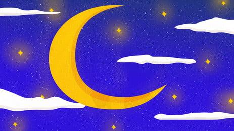 वर्धमान चाँद बादलों रात पैनलों, वर्धमान, बादल, रात पृष्ठभूमि छवि