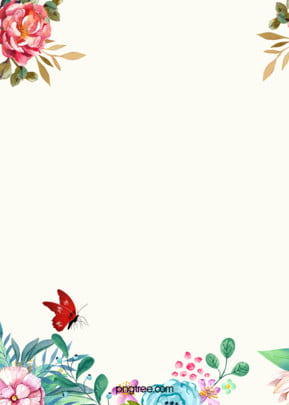 Vector Watercolor Flowers Fresh Literary Background, Yellowish, Elegant, Watercolor, Background image