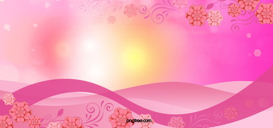 romantic pink flowers background, Romantic, Pink, Yellow Background image