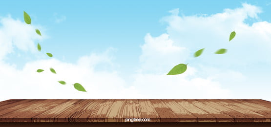 literary sky clouds fresh green leaves wooden background, Art, Clouds, Green Background image